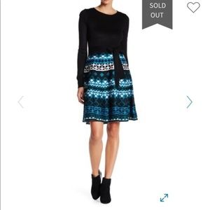 Eliza J Diamond Skirt Knit Dress